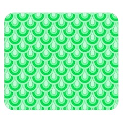 Awesome Retro Pattern Green Double Sided Flano Blanket (Small)