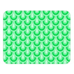 Awesome Retro Pattern Green Double Sided Flano Blanket (Large)