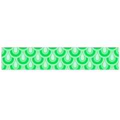Awesome Retro Pattern Green Flano Scarf (large)