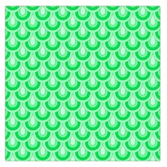 Awesome Retro Pattern Green Large Satin Scarf (Square)