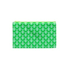 Awesome Retro Pattern Green Cosmetic Bag (xs)
