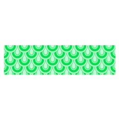 Awesome Retro Pattern Green Satin Scarf (oblong)