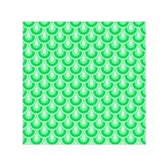 Awesome Retro Pattern Green Small Satin Scarf (Square)
