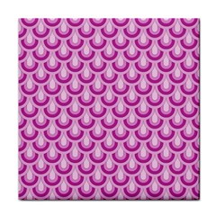 Awesome Retro Pattern Lilac Tile Coasters