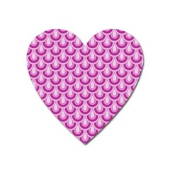 Awesome Retro Pattern Lilac Heart Magnet