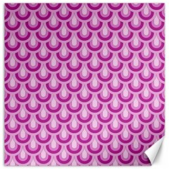 Awesome Retro Pattern Lilac Canvas 16  X 16