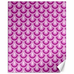 Awesome Retro Pattern Lilac Canvas 11  X 14