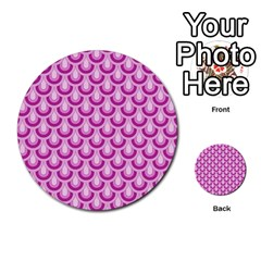 Awesome Retro Pattern Lilac Multi Purpose Cards (round)