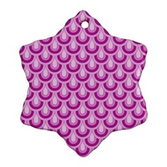 Awesome Retro Pattern Lilac Snowflake Ornament (2-Side)