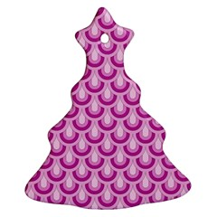 Awesome Retro Pattern Lilac Christmas Tree Ornament (2 Sides)