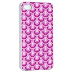 Awesome Retro Pattern Lilac Apple Iphone 4/4s Seamless Case (white)