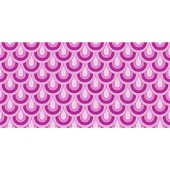 Awesome Retro Pattern Lilac You Are Invited 3d Greeting Card (8x4)