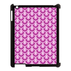 Awesome Retro Pattern Lilac Apple Ipad 3/4 Case (black)