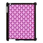 Awesome Retro Pattern Lilac Apple iPad 3/4 Case (Black) Front