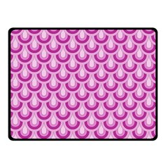 Awesome Retro Pattern Lilac Double Sided Fleece Blanket (Small)