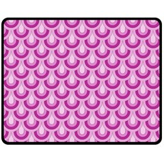 Awesome Retro Pattern Lilac Double Sided Fleece Blanket (Medium)