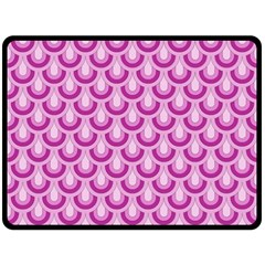 Awesome Retro Pattern Lilac Double Sided Fleece Blanket (Large)