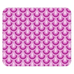 Awesome Retro Pattern Lilac Double Sided Flano Blanket (Small)