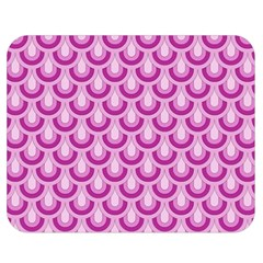 Awesome Retro Pattern Lilac Double Sided Flano Blanket (Medium)