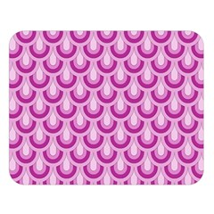 Awesome Retro Pattern Lilac Double Sided Flano Blanket (large)