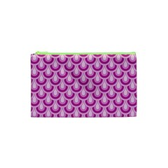 Awesome Retro Pattern Lilac Cosmetic Bag (XS)