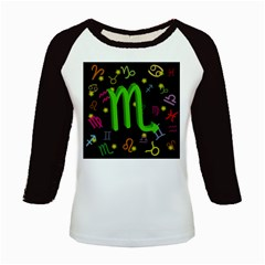 Scorpio Floating Zodiac Sign Kids Baseball Jerseys