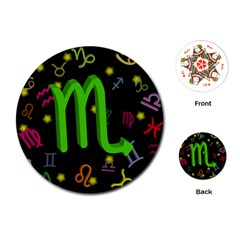 Scorpio Floating Zodiac Sign Playing Cards (Round)