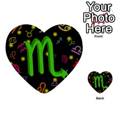 Scorpio Floating Zodiac Sign Multi-purpose Cards (Heart)