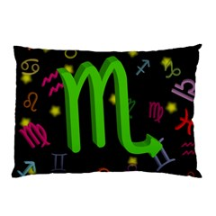 Scorpio Floating Zodiac Sign Pillow Cases