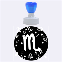 Scorpio Floating Zodiac Sign Rubber Round Stamps (Large)