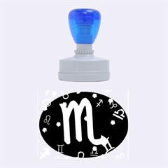 Scorpio Floating Zodiac Sign Rubber Oval Stamps
