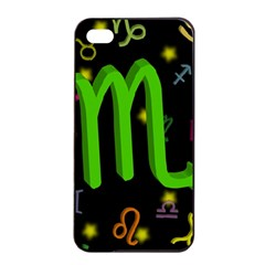 Scorpio Floating Zodiac Sign Apple Iphone 4/4s Seamless Case (black)