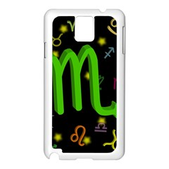 Scorpio Floating Zodiac Sign Samsung Galaxy Note 3 N9005 Case (White)