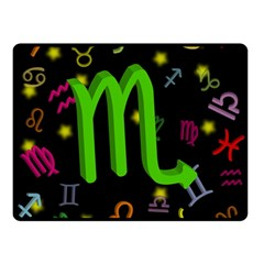 Scorpio Floating Zodiac Sign Double Sided Fleece Blanket (Small)
