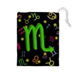Scorpio Floating Zodiac Sign Drawstring Pouches (Large)  Front