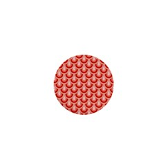 Awesome Retro Pattern Red 1  Mini Buttons