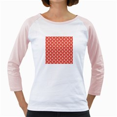 Awesome Retro Pattern Red Girly Raglans