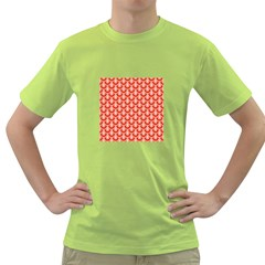 Awesome Retro Pattern Red Green T Shirt