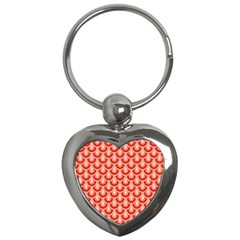 Awesome Retro Pattern Red Key Chains (heart)