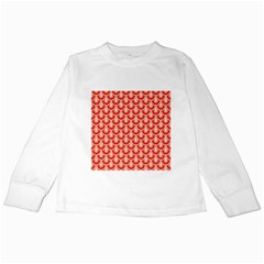 Awesome Retro Pattern Red Kids Long Sleeve T-Shirts
