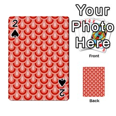Awesome Retro Pattern Red Playing Cards 54 Designs