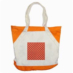 Awesome Retro Pattern Red Accent Tote Bag