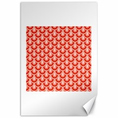 Awesome Retro Pattern Red Canvas 24  X 36