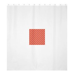 Awesome Retro Pattern Red Shower Curtain 66  x 72  (Large)