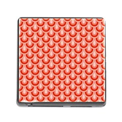 Awesome Retro Pattern Red Memory Card Reader (square)