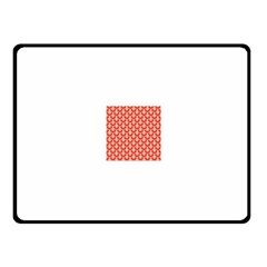 Awesome Retro Pattern Red Fleece Blanket (Small)