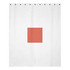 Awesome Retro Pattern Red Shower Curtain 60  x 72  (Medium)