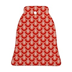 Awesome Retro Pattern Red Bell Ornament (2 Sides)