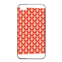 Awesome Retro Pattern Red Apple iPhone 4/4s Seamless Case (Black)