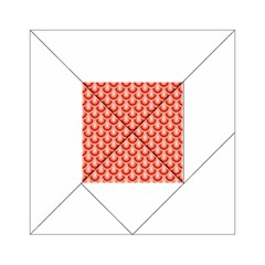 Awesome Retro Pattern Red Acrylic Tangram Puzzle (6  x 6 )